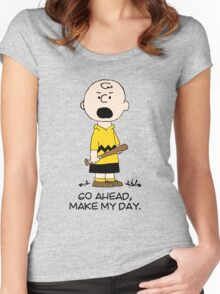 Charlie Make my day Women's Fitted Scoop T-Shirt