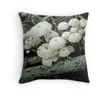 Wagon Wheel Marasmious Mushroom Family Throw Pillow