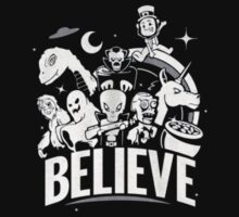 Believe Zombies Aliens Vampires Kids Clothes