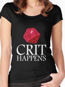Crit Happens geek funny nerd Women's Fitted Scoop T-Shirt
