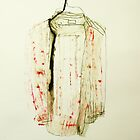 striped shirt with ripped collar by donnamalone