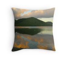 Dawn Reflections At Mary Point Throw Pillow