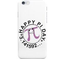 Cute happy pi day geek funny nerd iPhone Case/Skin