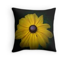 Black Eyed Susan and the Ant Throw Pillow