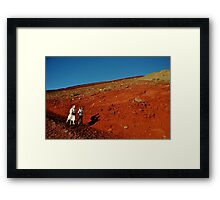 Coming Down the Hill Framed Print