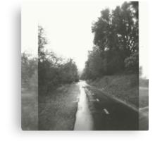 rainy path. Canvas Print