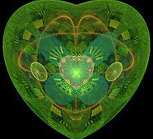 JULIA'S BLOSSOMING HEART by carlotta peacock