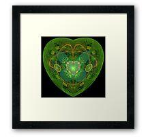 JULIA'S BLOSSOMING HEART Framed Print