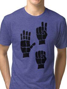 Scissors Paper Rock Tri-blend T-Shirt