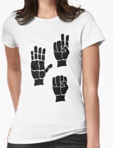 Scissors Paper Rock Womens Fitted T-Shirt