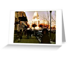 Going to the Mall - Providence - Downcity Greeting Card