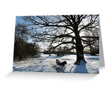 Snowy Silhouette Greeting Card