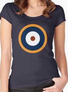 Royal Air Force - Historical Roundel Type A.2 1940 - 1942 Women's Fitted Scoop T-Shirt