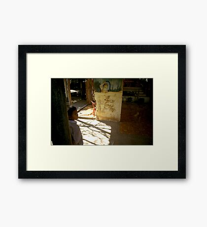 the present, oudong, cambodia Framed Print