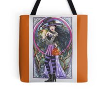 Halloween Samhain witch cat celtic style Tote Bag