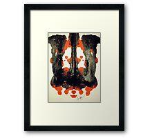 INKBLOT # 042 Framed Print