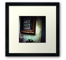 art not war, siem reap, cambodia Framed Print