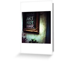 art not war, siem reap, cambodia Greeting Card