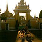 palace gate, phnom penh, cambodia by tiro