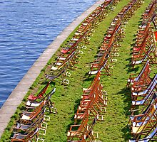 Sun Chairs By Spree in Berlin by sceneryphotosto