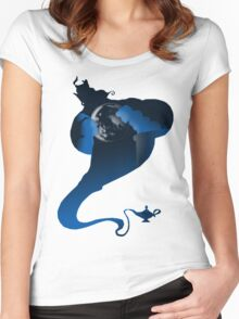 The Genie and the Moon  Women's Fitted Scoop T-Shirt