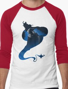 The Genie and the Moon  Men's Baseball ¾ T-Shirt
