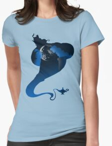 The Genie and the Moon  Womens Fitted T-Shirt