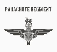 Parachute Regiment (UK) Black Kids Tee