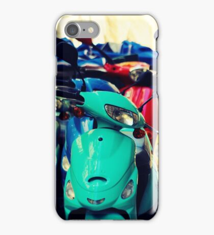 Green Scooter iPhone Case/Skin