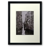 Venice Canal - Pen and Ink and Wash Framed Print