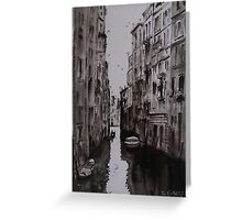 Venice Canal - Pen and Ink and Wash Greeting Card