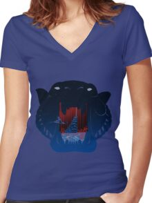 The Cave of Wonders  Women's Fitted V-Neck T-Shirt