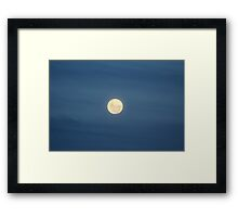 Super Moon (Perigee Moon) - 19th March 2011 Framed Print
