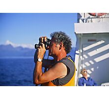 Letter Written on a Ferry to Svolvær  (Lofoten). Norway . Brown Sugar . View (99) Thank you friends !!! Photographic Print