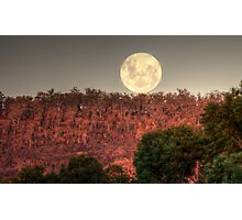 Super Full Moon rising Photographic Print