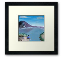 Washing in a beautiful place  Framed Print