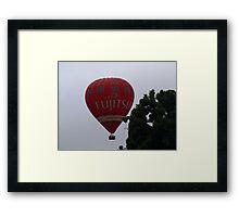 Balloon over my suburb. Framed Print