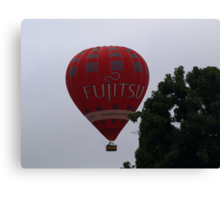 Balloon over my suburb. Canvas Print