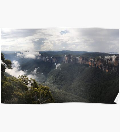Grose Valley from Anvil Rock NSW Australia Poster