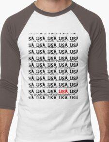 usa california tshirt by rogers bros Men's Baseball ¾ T-Shirt