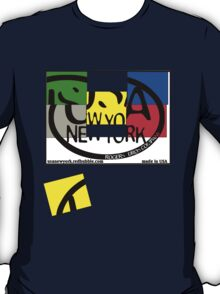 usa new york tshirt by rogers bros co T-Shirt