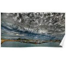 Clouds over Freo  Poster