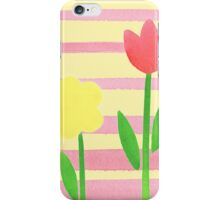 Flower Bed On Baby Pink iPhone Case/Skin
