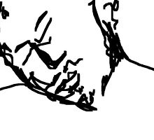 quick sketch: man asleep -(180311)- mouse drawn/ms paint by paulramnora