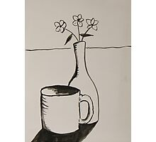 cup and vase Photographic Print