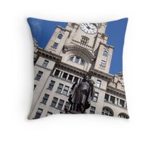 Sir Alfred Lewis Jones Monument Liverpool Throw Pillow