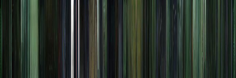 Moviebarcode: The Matrix (1999) by moviebarcode
