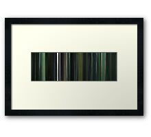 Moviebarcode: The Matrix (1999) Framed Print
