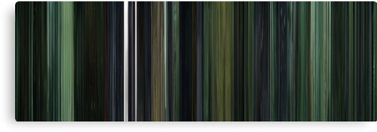 Moviebarcode: The Matrix (1999) by moviebarcode
