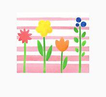 Flowers Garden On Baby Pink Unisex T-Shirt
